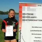 Nele Schmoll hat bei den Deutschen Mehrkampfmeisterschaften in Eutin ihre Vorjahresleistungen verbessert. Foto: nh