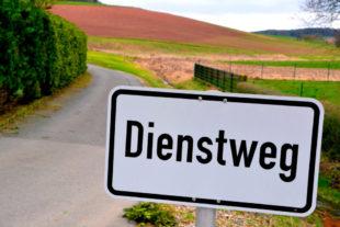 Wenn mal wieder was auf den Dienstweg gebracht werden soll … Foto: Gerald Schmidtkunz | SEK-News
