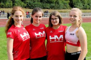 Den dritten MT-Sieg holte sich das Staffelquartett mit Pia Gille, Lena Pöppe, Sarah Langheld und Vivian Groppe. Foto: nh