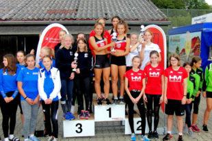 Der TSV Remsfeld holte sich den Sieg bei den Schülerinnen vor der MT Melsungen und dem SC Steinatal. Foto: nh