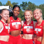 Dieses Quartett mit Vivian Groppe, Holly Okuku, Mia Baus und Carolin Schlung lief 47,95 Sekunden. Foto: nh