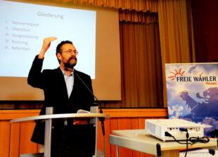 Prof. Heußner sprach als Gastredner der Auftaktkonferenz über den »Dialog der Wählergruppen« zur Kommunalwahl 2021. Foto: FREIE WÄHLER
