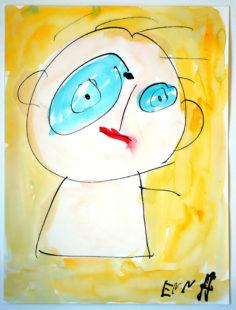 Das Titelmotiv der Ausstellung stammt von Anneliese Koffer, einer Künstlerin aus dem »Atelier Farbenhaus«. Repro: nh