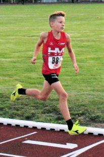 Linus Schopf holte sich den 800m-Titel der M11. Foto: nh