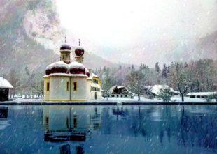 Sankt Bartholomä am Königssee im Berchtesgadener Land. Foto: Michael J. M. Lang   Pixabay