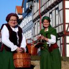 Stadtführung »mit'm Lisbeth unnerwegens«. Foto: Kultur- & Tourist-Info Melsungen