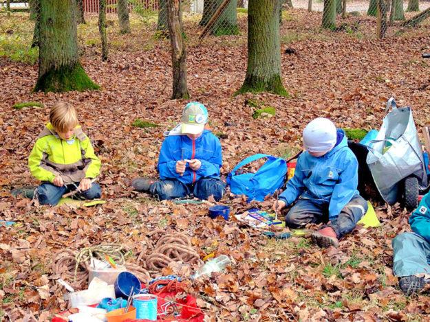 Basteln, malen, kreativ sein – in den Herbstferien wird »Wild und Wald« in allen Facetten geboten. Foto: Wildpark Knüll