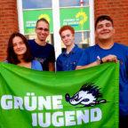 Der neu gewählte Kreisvorstand der Grünen Jugend Schwalm-Eder – Dominika Filipczak, Shkodran Jonuzi, Annemarie Möller, Christoph Sippel – will den Klimanotstand ausrufen lassen. Foto: nh