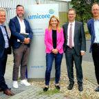 Dr. Christian Hagelüken, Henrik Statz, Wiebke Knell (MdL), Dr. Bernhard Fuchs und Dr. Ralf Zuber (v.li.). Foto: nh