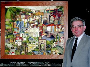 Eine Nordhessen-Collage präsentierte Josef Mertin im japanischen »Glücks-Königreich«. Fotomontage: Archiv Winkelhöfer