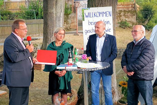 Winfried Becker, Olga Fischer, Jan Rauschenberg und Georg Kühlborn (v.li.). Foto: nh