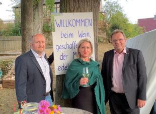 Jan Rauschenberg, Olga Fischer, Winfried Becker. Foto: nh