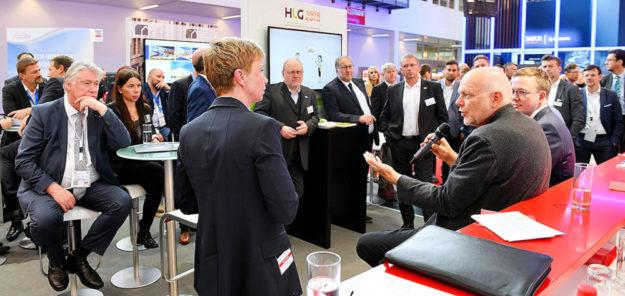 Talkrunde auf der Expo Real in München. Foto: Regionalmanagement Nordhessen