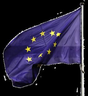 Die europäische Flagge: Gelbe Sterne auf blauem Grund. Foto: Elionas | Pixabay