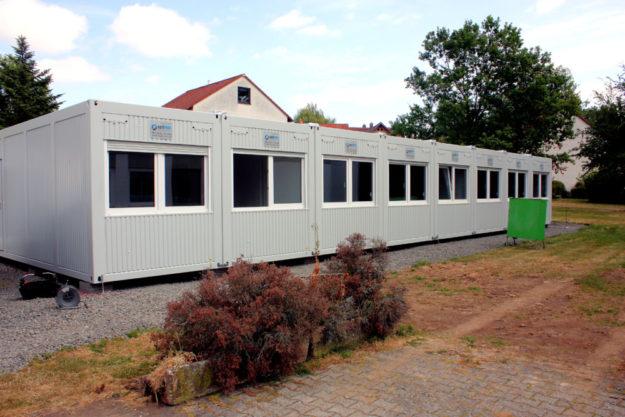 Die provisorische Kita F26 ist im August in Betrieb gegangen. Jetzt lädt sie für den 26. Oktober zum Tag der offenen Tür ein. Foto: nh
