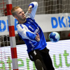 Torhüter Johan Sjöstrand im Heimspiel gegen den HC Erlangen. Foto: Heinz Hartung