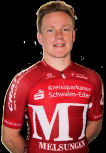 Vitus Obermann im Rot der MT Melsungen. Foto: Merle Obermann