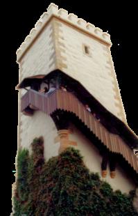 Turm der unbewohnte Hauptturm, der Bergfried, der Wartburg. Die Burg bei Eisenach wurde 1067 von Ludwig dem Springer gegründet und gehört seit 1999 zum UNESCO-Weltkulturerbe. Foto: Schmidtkunz