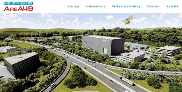 Der geplante Industriepark AreA49 soll der Region Wirtschaftskraft und Wohlstand einfahren. Screenshot: SEK-News, 14.11.2019