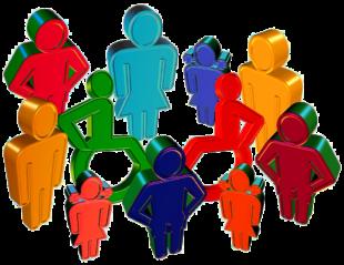 Inklusion nimmt auch am Arbeitsplatz Menschen mit Behinderung in ihre Mitte. Grafik: Gerd Altmann | Pixabay