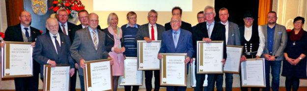 50 Jahre Meister im Handwerk, die Goldenen Meisterbriefe. Foto: Wolfgang Scholz