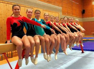 Die Sportlerinnen vom TuSpo Ziegenhain beim Abschlussbild zum Pokalwettkampf. Foto: nh