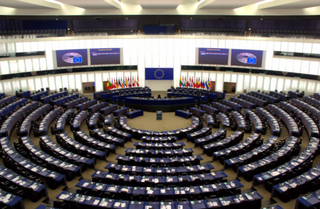 Der Plenarsaal im Europäischen Parlament zu Straßburg. Foto: Gerald Schmidtkunz