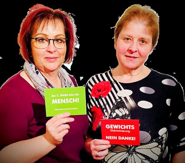 Die neuen SHG-Leiterinnen Daniela Heinmöller (li.) und Heike Weinrich. Zum nächsten Gruppentreffen laden sie für Montag, den 18.11.2019, ein. Foto: nh