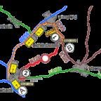 Umleitungsplan K 126. Kartografie: Hessen Mobil