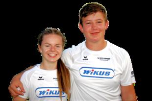 Vivian Groppe und Luis Andre sind achtmal in der deutschen Bestenliste vertreten und gehören mit zwei ersten, einem zweiten sowie einem dritten Rang zur Crème de la Crème im DLV-Bereich. Foto: nh