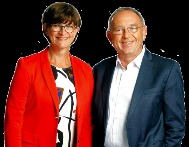 Die neue Doppelspitze im Parteivorsitz der SPD: Saskia Eskens und Norbert Walter-Borjans. Foto: ©Werner Schüring