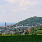 Blick auf Homberg (Efze) mit Hohenburg und Marienkirche. Foto: Gerald Schmidtkunz