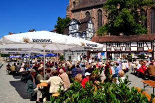 Der Homberger Marktplatz ist eine ideale Lokalität für innerstädtische Veranstaltungen unter freiem Himmel. Foto: Schmidtkunz