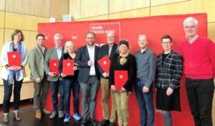 Der SPD-Bezirk Hessen-Nord hat die Preisträger des Ehrenamtspreises 2019 in Baunatal ausgezeichnet. Foto: Tim Herbst