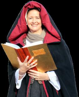 Gabriele Franke alias Kunigunde von Lüder, die Frau des Festungskommandanten von Ziegenhain. Foto: Schwalm-Touristik