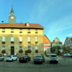 Rathaus am Marktplatz in Spangenberg. Foto: Gerald Schmidtkunz