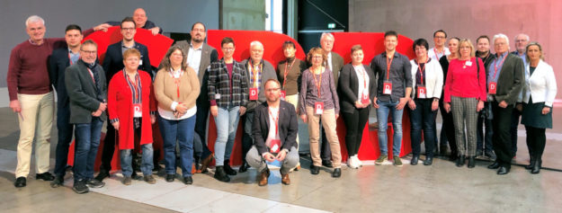 Die 24 nordhessische Delegierten auf dem Bundesparteitag in Berlin. Foto: nh