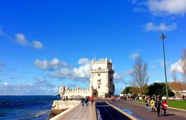"""Mit der MT im Europapokalflieger ins malerische Lissabon – der Fan-Traum wird im Februar war. Der """"Torre de Belém"""" im Stadtteil Belém, direkt an der Mündung des Tejo gelegen, ist eines der bekanntesten Wahrzeichen Lissabons. Foto: Bernd Kaiser"""