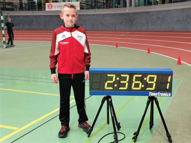 Jean Heilmann mit seiner DLV-Jahresbestzeit von 2.36.91, die später auf 2.36.90 korrigiert wurde. Foto: nh