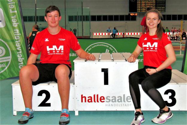 Luis André und Vivian Groppe beendeten das Jahr 2019 mit zwei deutschen Jahresbestleistungen in ihren Altersklassen. Foto: nh