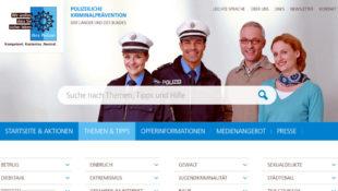 Auf der Internetseite der Polizeilichen Kriminalprävention finden sich viele Tipps und Hinweise für ein sichereres Leben. Screenshot: SEK-News