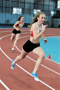 Ella Gleim sorgte für eine Überraschung als sie im 200m-Lauf mit 26,43 Sekunden auf Rang sechs stürmte. Foto: nh