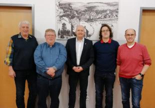 Von links: Horst Lohmann (Beisitzer AG 60+), Bernd Rauschenberg (Schatzmeister), Jan Rauschenberg (Vorsitzender), Julian Lohmann (Schriftführer), Frank Heinemann (stellv. Vorsitzender); fehlt Stefan Heinemann (stellv. Vorsitzender). Foto: SPD