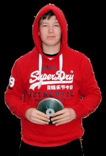Luis André, Winterwurfmeister im Diskuswerfen der U16. Foto: nh