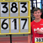 Mit der neuen Rekordweite von 16,17 Metern holte sich Luis André seine zweite Hessenmeisterschaften in diesem Jahr. Foto: nh