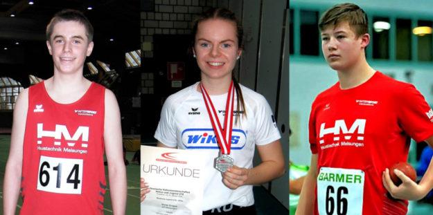 Auf Niclas Dittmar, Vivian Groppe und Luis André ruhen einmal mehr die Melsunger Medaillen-Hoffnungen (v.li.). Fotos: nh