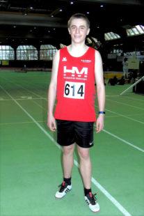 Niclas Dittmar hatten allen Grund zur Freude - der 14-Jährige stellte mit 7,69 Sekunden eine neue persönliche Bestzeit auf und qualifzierte sich für die Landesmeisterschaften. Foto: nh