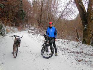 Auf winterlicher Strecke im Steinatal nahe der Daubenmühle. Foto: ADFC