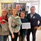 Martina Theis, Laura Bartels, Hans-Dieter Nitsch, Marina Otteni und Jürgen Thurau (v.li.). Foto Gert Wenderoth
