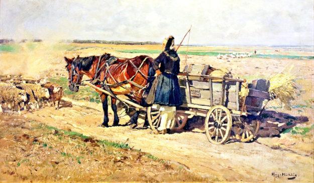 Landschaften und Menschen in der Schwalm waren die Motive von Hugo Mühlig. Repro: nh